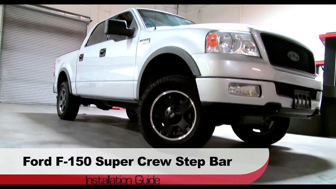 Spyder auto installation 2004 2008 ford f 150 super crew step bars spyder auto installation 2004 2008 ford f 150 super crew step bars aloadofball Images