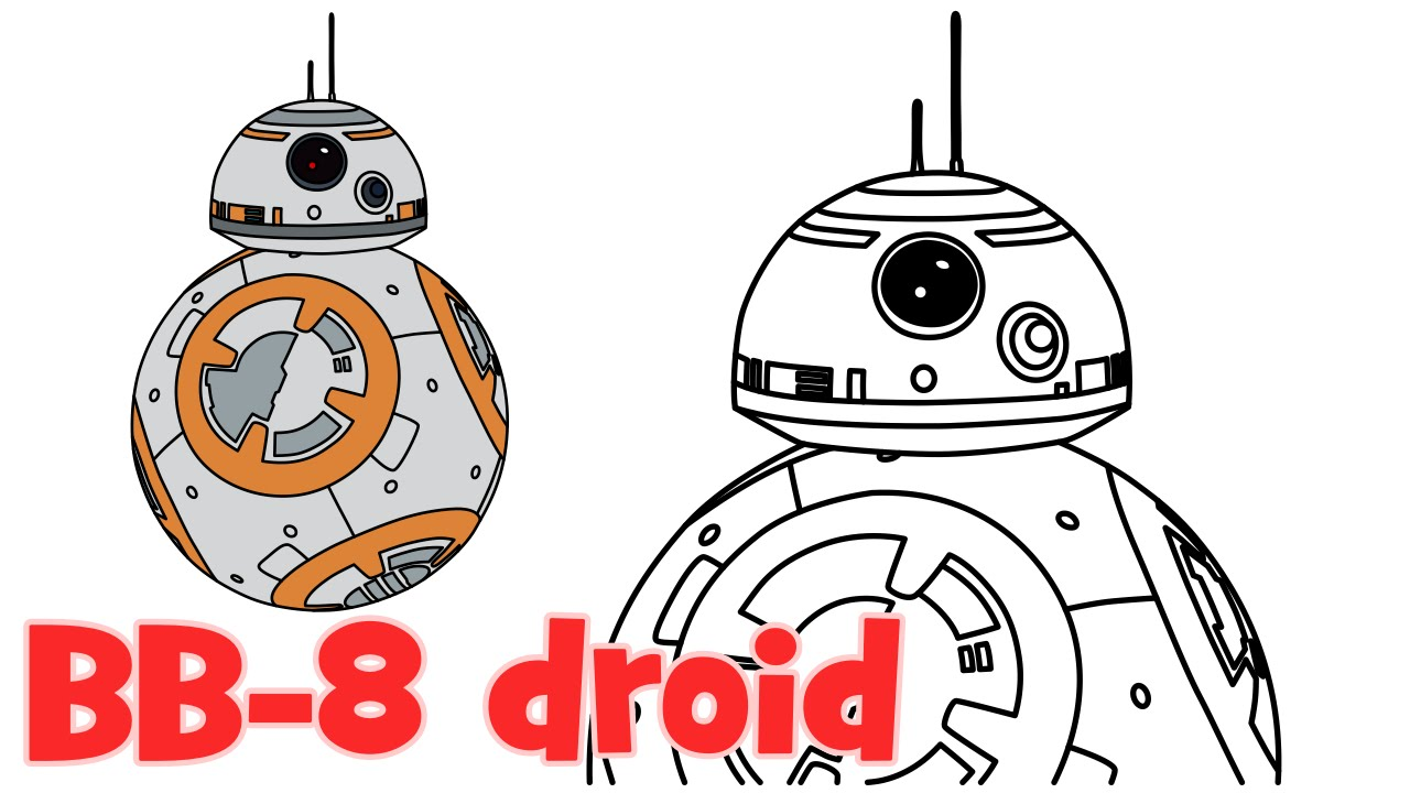 How to Draw BB 8 Star Wars Episode 7 characters step by step easy YouTube