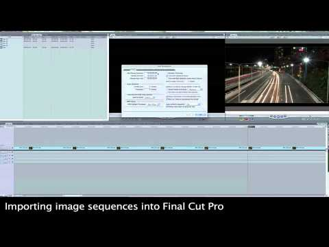 Final Cut Pro Import (time-lapse) - YouTube