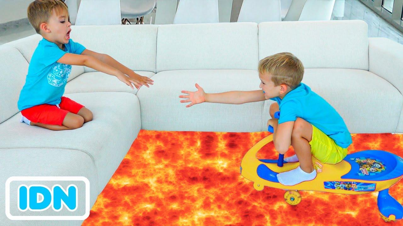 Lantai adalah Lava dengan Vlad dan Niki