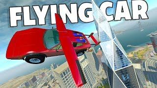 INSANE FLYING ROCKET POWERED SUPER CAR! - BeamNG Drive DH Hyper Bolide Car Mod Part 2