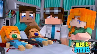 DYING BABY ALEX & BABY STEVE ARE ON LIFE SUPPORT!! Minecraft LIFE of ALEX & STEVE