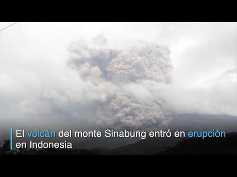 Erupción del Sinabung pone alerta a Indonesia