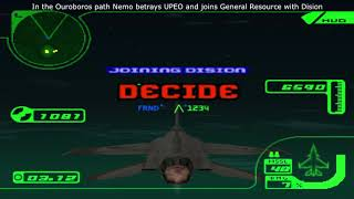 Ace Combat 3: Electrosphere - All Cutscenes, conversations and decisions (Ouroboros Path)