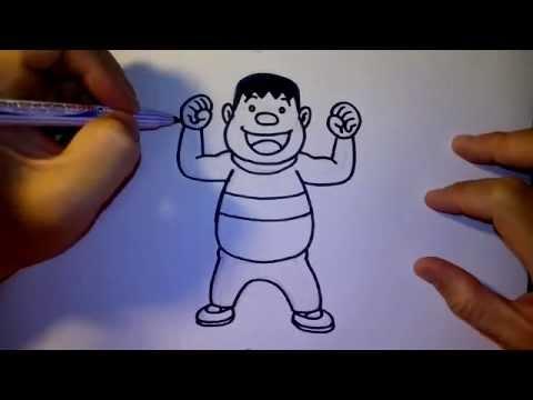 ทาเคชิ ไจแอ้น จาก การ์ตูน โดราเอม่อน by วาดการ์ตูนกันเถอะ สอนวาดรูป การ์ตูน