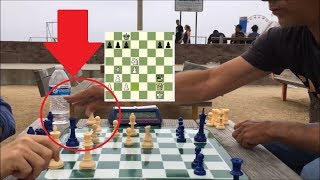 CHESS HUSTLER CHEATS (caught in slow-mo) and STILL LOSES!