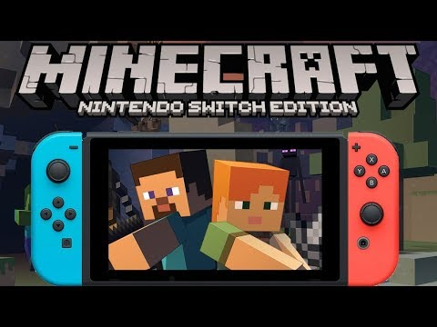Minecraft Switch/PC/XBOX One Crossplay! Playing Online with Friends!