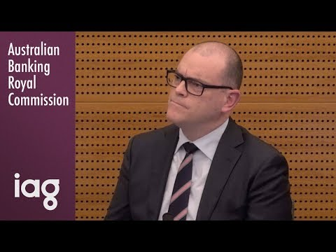 IAG's Head Of Business Distribution Testifies At The Banking Royal Commission