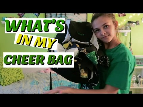 WHATS IN MY CHEER BAG| EMMA MARIE'S WORLD