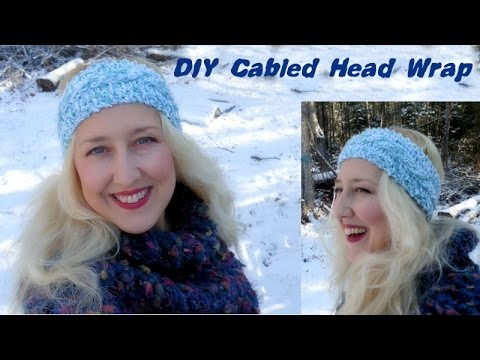 Diy Cable Knit Head Wrap Pattern In Description Youtube
