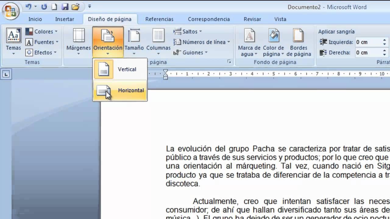 Cómo cambiar la configuración de página en Word - YouTube
