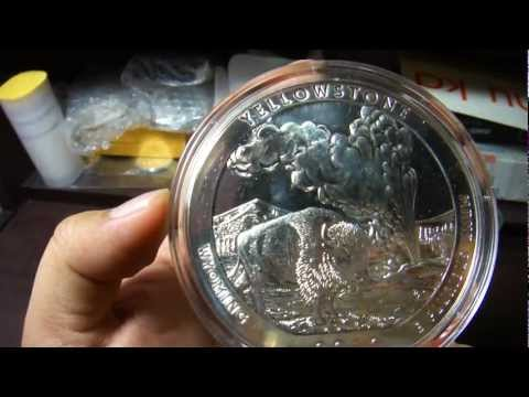 Yellowstone 2010 America The Beautiful Five Ounce Silver Bullion Version