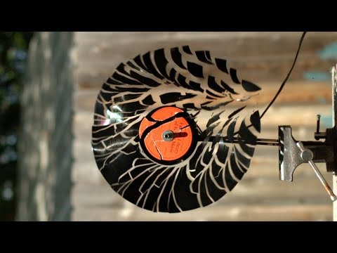 Spinning a Record to Pieces at 12,500fps - The Slow Mo Guys