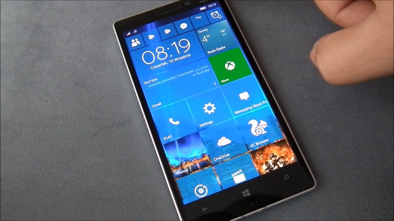 Lumia 930 windows 10 update