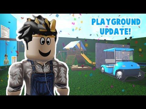 The New Bloxburg Playground And Golf Cart Update My New Ride