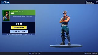Fortnite Item Shop *New* COLE Skin and ROCKBREAKER Pickaxe! WHITEOUT Returns! ( May 5 )