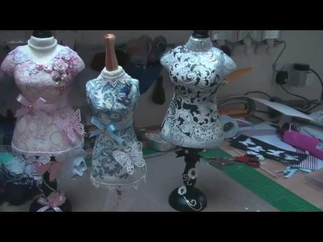 Decorating Dress Forms Card Making Magic Com Youtube