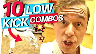 10 KARATE LOW KICK COMBOS (PAINFUL!) — Jesse Enkamp