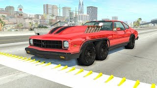Spike Strip High Speed Crashes #43 – BeamNG Drive | CrashBoomPunk