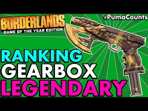 Ranking All 6 New Gearbox Legendary Guns and Weapons in Borderlands 1 Remastered #PumaCounts