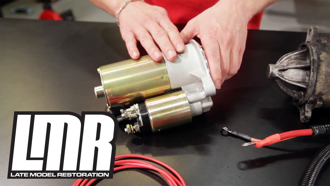 mustang starter install - sve mini high torque (79-95 fox body) - youtube