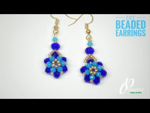 Simple Beaded Flower Earrings | DIY Earrings | How to make earrings