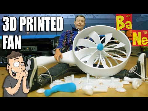 3D Printing, Assembling & Testing a Mechanical Hand Crank Fan