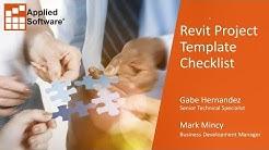Revit Project Template Checklist