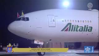 Pope Francis in UAE - Official Welcome at the airport Abhu Dhabi