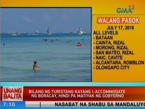 UB: Bilang ng turistang kayang i-accommodate ng Boracay, hindi pa matiyak ng gobyerno