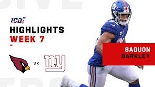 Saquon Barkley Scores 1 TD in Return from Injury | NFL 2019 Highlights