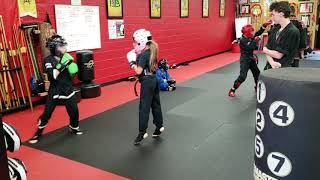 Jade working out at West Coast Martial Arts