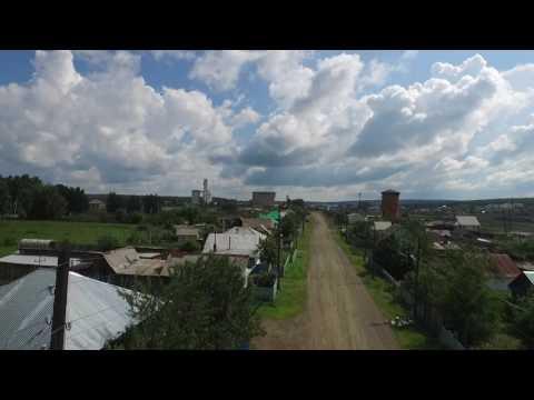 Немного полетов в селе Учалы - вид сверху с дрона 15 июля 2017