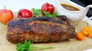 Oven Jerk Pork Loin #TastyTuesdays  CaribbeanPot.com