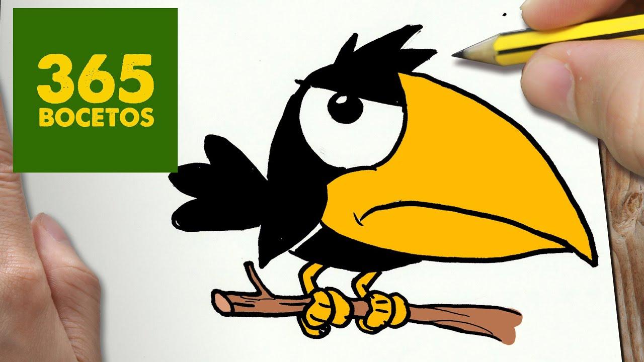 Como Dibujar Cuervo Kawaii Paso A Paso Dibujos Kawaii Faciles How To Draw A Crow