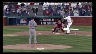 MLB 11 the show World Series (Game 1) St Cardinals vs Texas Rangers