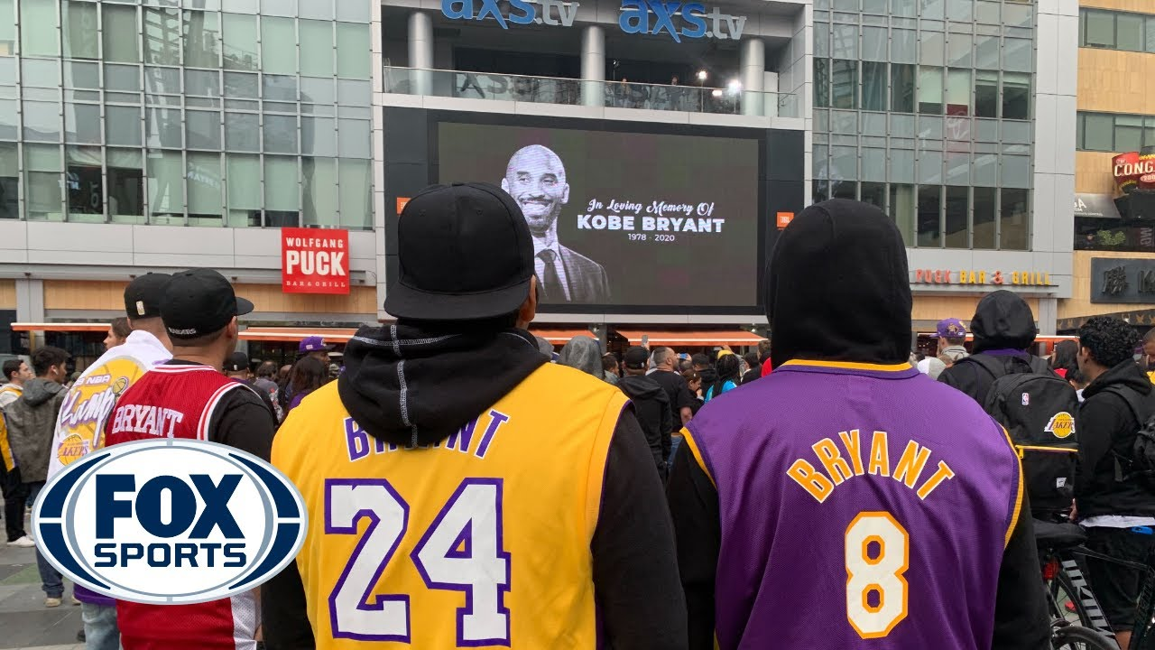 Fans mourn Kobe Bryant's tragic passing outside of Staples Center