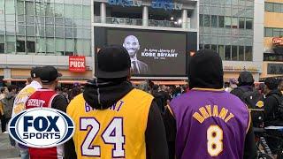 Fans mourn Kobe Bryant's tragic passing outside of Staples Center | FOX SPORTS