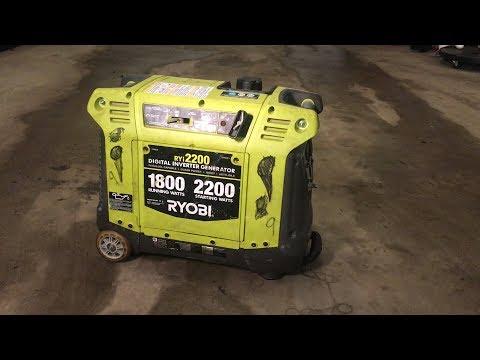 Ryobi Inverter Generator Won't Start / Surging - Carburetor Cleaning - RYI2200