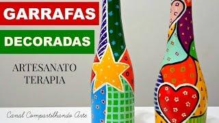 DIY Garrafas Decoradas estilo Romero Britto