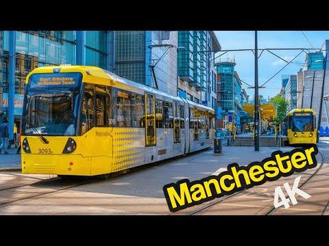 Manchester UK Walking Tour 4K @ActionKid