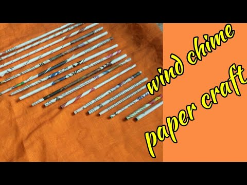 Waste paper craft|DIY wind chime|simple craft with paper|simply mix