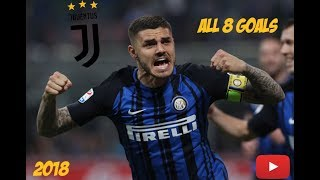 MAURO ICARDI ● All 8 goals Against Juventus