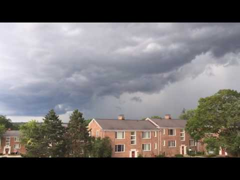 Thunderstorm Clouds Roll Over Ann Arbor