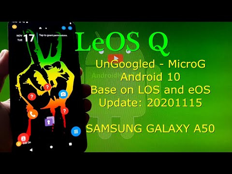 LeOS Q UnGoogled for Samsung Galaxy A50 Android 10 Q