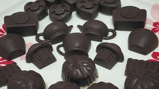 CHOCOLATES!! Easy At Home || 2 Ingredient Chocolate || घर पर बाज़ार जैसी चाॅक्लेट बनाने की आसान विधि