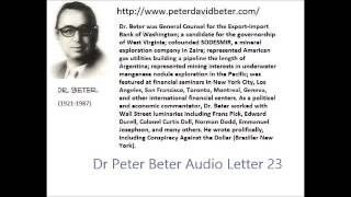 Dr. Peter David Beter - Audio Letter 23: Pre-War; Naval Battle; Personal Sacrifice - April 24, 1977