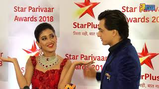 Shivangi Joshi & Mohsin Khan At Star Parivaar Awards 2018 - Full Interview