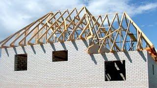 видео Строительство крыши (кровли) каркасного дома