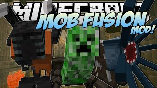 Minecraft | FUSION MOBS MOD! (Create Your Own Mutant Mobs!) | Mod Showcase thumbnail
